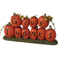 Give Thanks Pumpkin Thanksgiving Decor