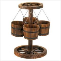 Country Western Wagon Wheel Planter