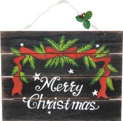 Merry Christmas Holly Sign