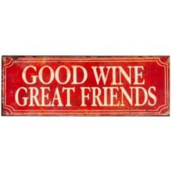 Metal Good Wine Wall Plaque