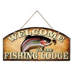 FISHING LODGE WELCOME SLATE