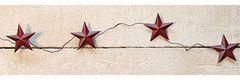 "Burgundy Star Garland 60"""