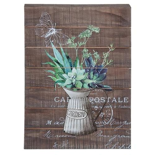 Vintage Garden Dimensional Sign Country Cabin Decor Farm Rustic