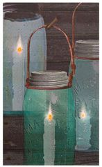 Canning Jar Lit Canvas