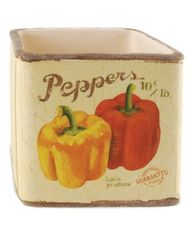 SQUARE PEPPERS BOWL