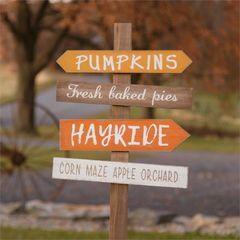 Garden Stake - Pumpkins, Hayride