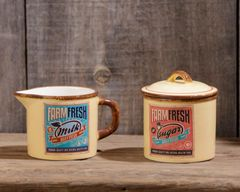 Retro Ceramic - Farm Fresh Milk And Sugar Container Set