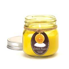 Lemon Sugar Mason Jar Candle