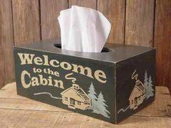 WELCOME CABIN TISSUE BOX