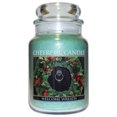 Welcome Wreath Cheerful Candle 24 oz.
