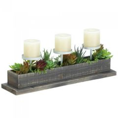 Rustic Reclaimed Wood Candle Display