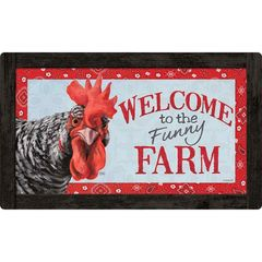 FUNNY FARM CHICKEN DOOR MAT