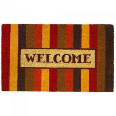 Autumn Striped Coir Welcome Mat