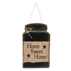 Home Sweet Home Jar Sign, 4.75x8
