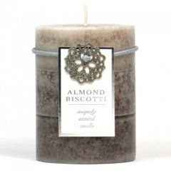 Almond Biscotti Pillar Candle - 4-inch