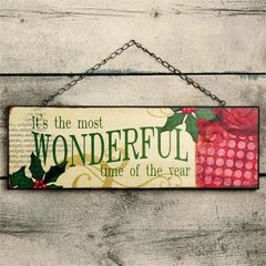 """Wonderful Time"" Hanging Sign"