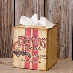 Tissue Box Cover - Farmers' Market