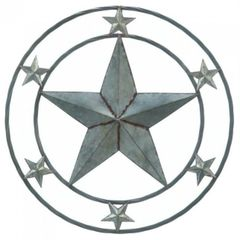 Galvanized Metal Wall Decor - Stars