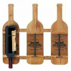 Bourdeaux Wood Wall-Mounted Wine Rack
