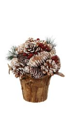 Frosted Pinecone Topiary