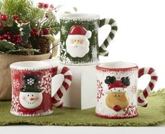 "5.5"" x 4.4"" Ceramic Christmas Mug, 3 Assorted"