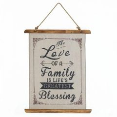 Linen Wall Art - The Love of a Family