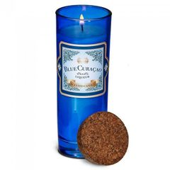 Bottle Candle with Cork Lid - Blue Curacao Scent
