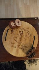 Rustic Round Serving Tray