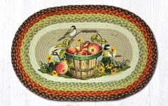 Apple Chickadee Oval 20x30 Rug