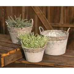 3/Set, Willow Metal Baskets