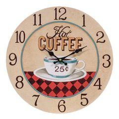 Hot Coffee 25¢ Clock