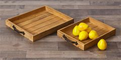 Trays - Pallet, Iron Handles Set of 2