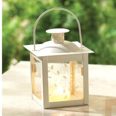 Vine Pattern Square Garden Lantern - 5 inches
