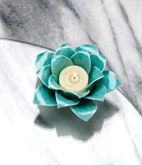 Blue Lotus Candle Holder