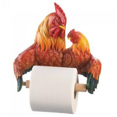 Country Roosters Toilet Paper Holder