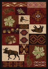 Bear Creek Lodge Rug- Rectangle - 8x11 - Red