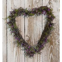 "Lavender Twig Heart Wreath 11"" x 11"""