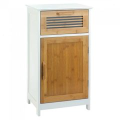 Bamboo and Wood Floor Cabinet