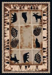 Northern Wildlife Rectangle Rug