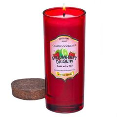 Bottle Candle with Cork Lid - Strawberry Daiquiri