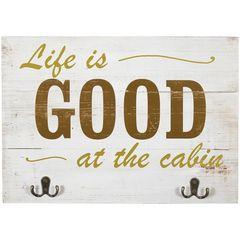 WALL ART-LIFE IS GOOD/CABIN