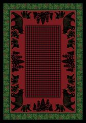 Bear Family Rug- Rectangle - 8x11 - Multi