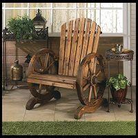 Country Western Wagon Wheel Adirondack Chair