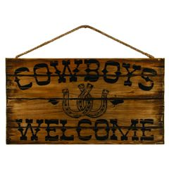 Cowboys Welcome Sign
