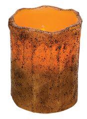 "Cinnamon Ivory Drip Pillar, 4"""