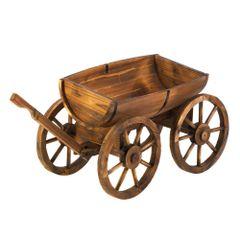 Country Western Apple Barrel Planter Wagon
