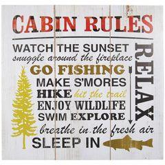 WALL ART-CABIN RULES