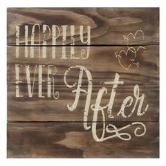 Happily Ever After Slat Sign