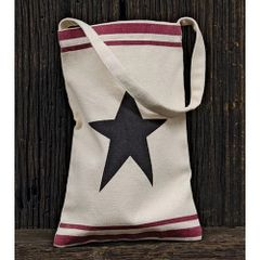 Black Star Canvas Bag w/Handle