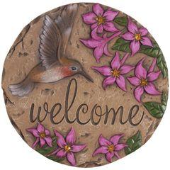 Stepping Stone Decor-Welcome Hummingbird